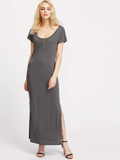 Slit Side Tee Dress