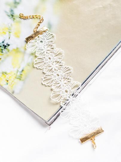 Weiße Blume hohle aus Boho Armband