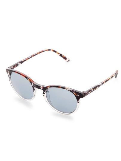 Gafas de sol con marco multicolor y lentes gris