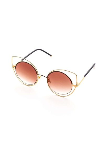 Double Frame Brown Lens Sunglasses