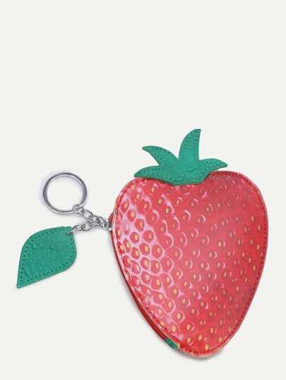 Sac à main motif mûre fraise