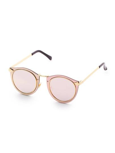 Double Frame Pink Lens Sonnenbrillen
