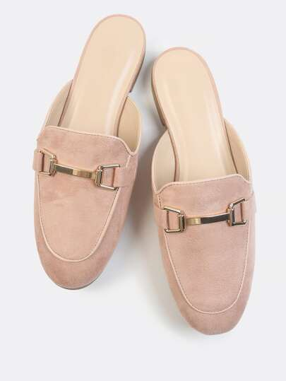 Faux Suede Loafer Slip Ons MAUVE