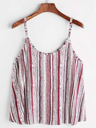 Abstract Vertical Striped Cami Top