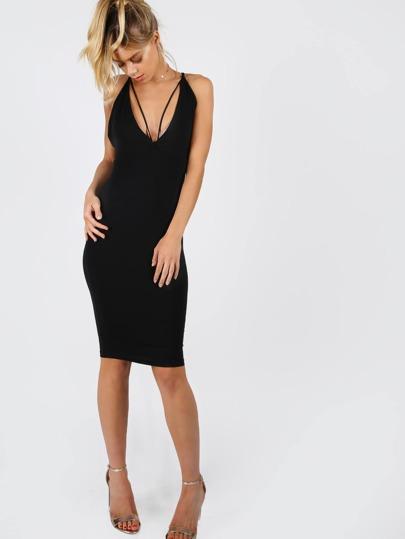 Strappy Criss Cross Dress BLACK