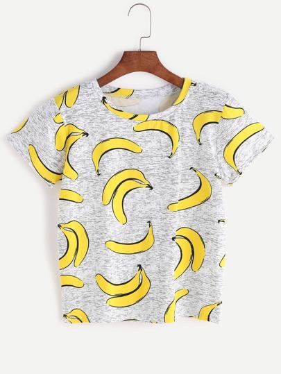 Bananas Print T-shirt