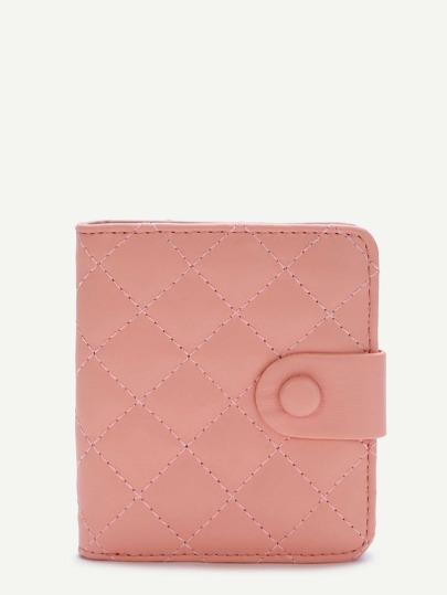 Pink Fold Snap Button Wallet