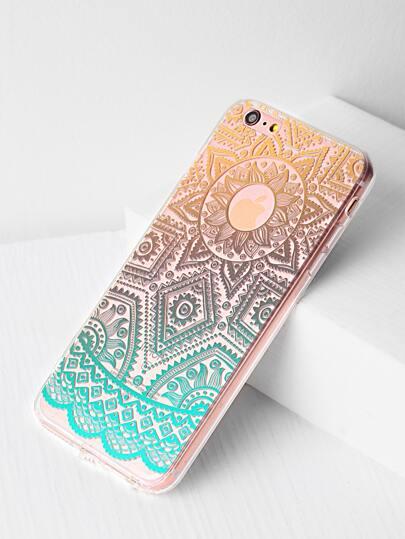 Ombre Tribal Pattern Clear iPhone 6 Plus / 6s Plus Kasten