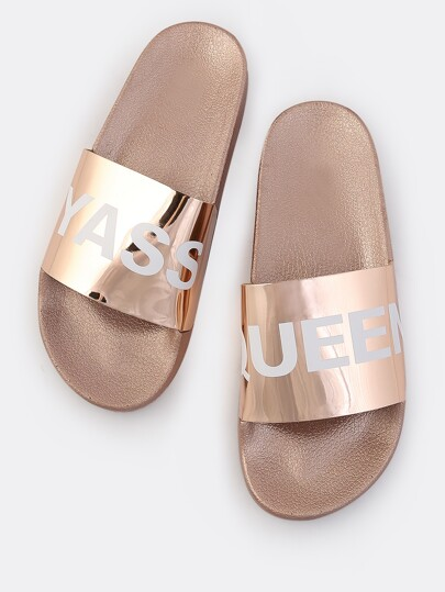 YASS QUEEN Metallic Sandals ROSE GOLD