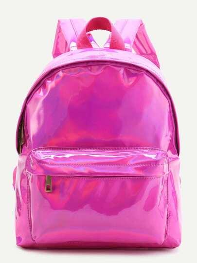 حقيبة الظهر جلد صناعية وردية ساخنة