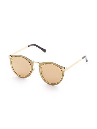 Double Frame Gold Lens Sunglasses