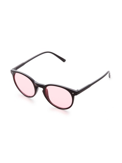 Black Frame Pink Lens Sunglasses