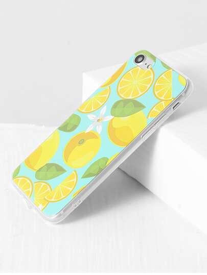 Funda para iphone 7 con estampado de fruta transparente