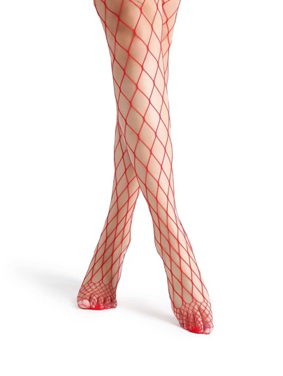 Red Sexy Fishnet Stockings