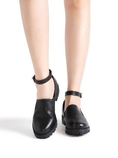 Scarpe Nero caviglia PU Strap
