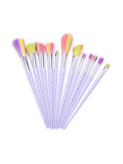 12PCS White Screw Handle Makeup Brush Set