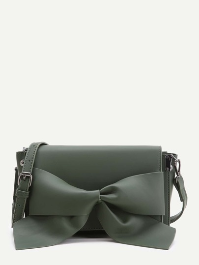Bow Detail Flap Shoulder Bag