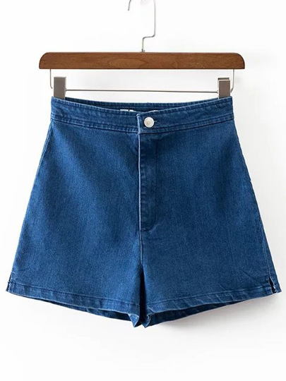Shorts ligne A en denim
