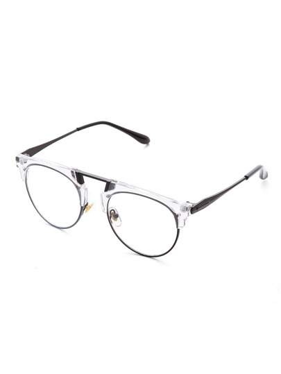 Clear Frame Clear Lens Retro Style Glasses