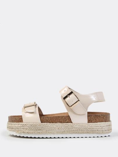 Espadrilles Flatform Sandals NUDE
