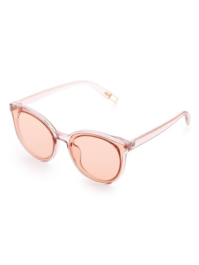 Light Brown Lens Cat Eye Sunglasses