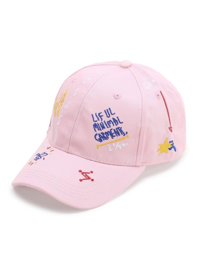 Pink Pattern ricamo Berretto da baseball