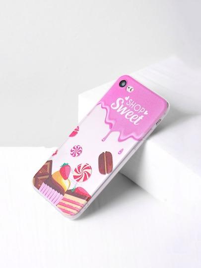 Cover per iphone 7 con stampa di torta