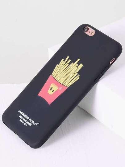Schwarzes Pommes Frites Design iPhone 6plus Fall