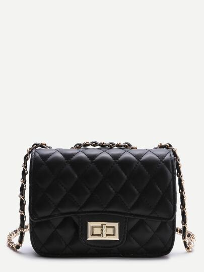 Black Twist Lock Crossbody Bag