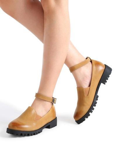 Scarpe Khaki caviglia PU Strap