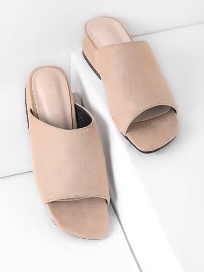 Sandalias de tacón grueso