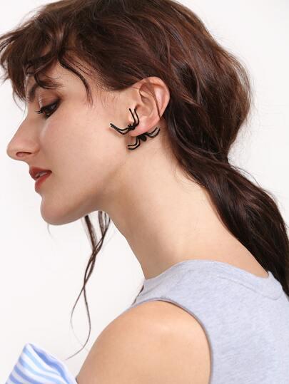 Boucles d'oreille en forme d'araignée noire 1Pcs