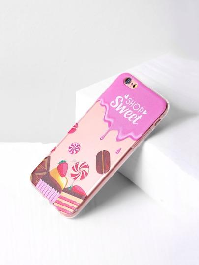 Cover per iphone 6/6s con stmap di torta