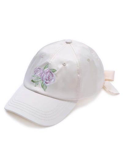 Casquette de baseball blanche de rose
