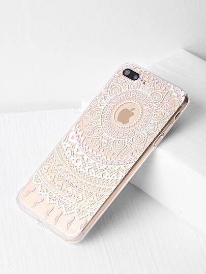 Funda para iPhone 7 Plus con estampado de flor étnica
