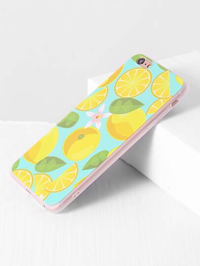 Funda para iphone 6 plus/6s con estampado de fruta transparente
