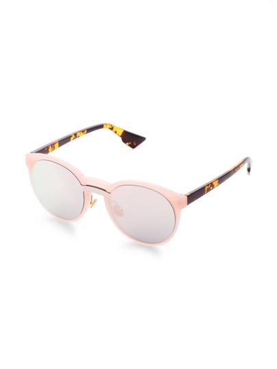 Pink Frame Mirror Lens Sunglasses