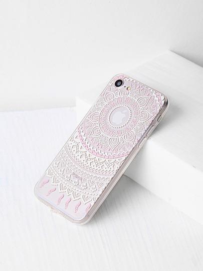 Stammes- Blumen-Muster iPhone 7 Kasten