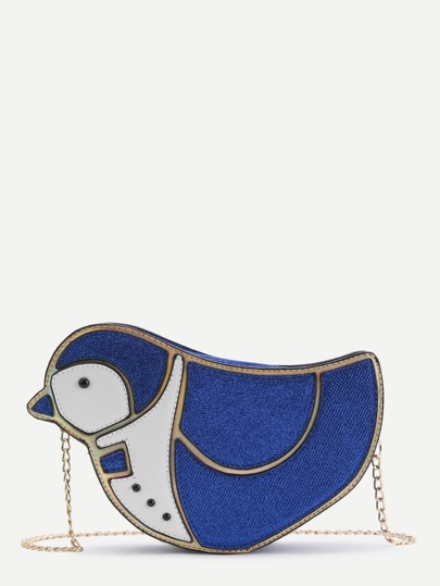 Bird Shaped Crossbody Bag With Chain