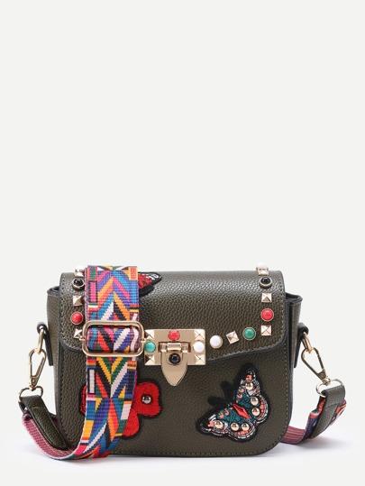Модная сумка с вышивкой