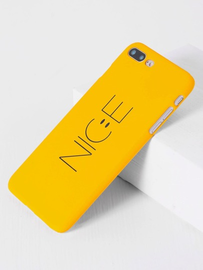 Yellow Letter Print iPhone 7plus Case