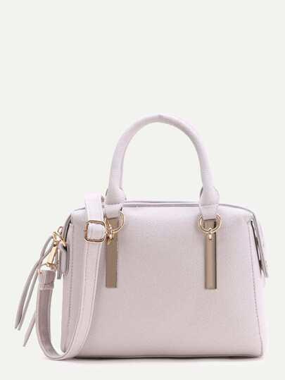 Tassel Detail PU sac à bandoulière avec poignée