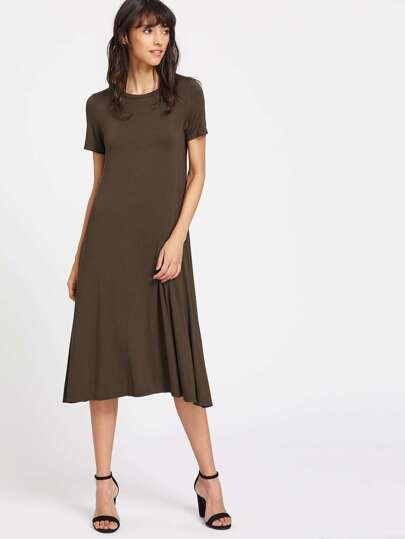 Swing Longline T-Shirt Dress