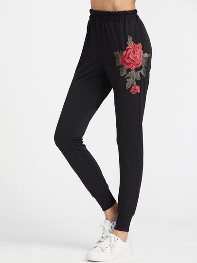 Embroidered Applique Pants