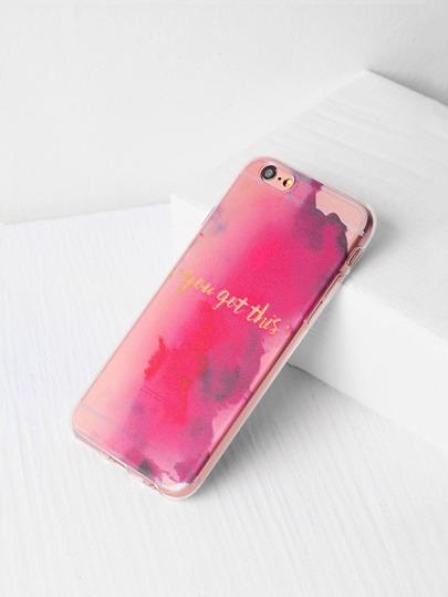 Caso del iPhone 6 / 6s del modelo de la acuarela