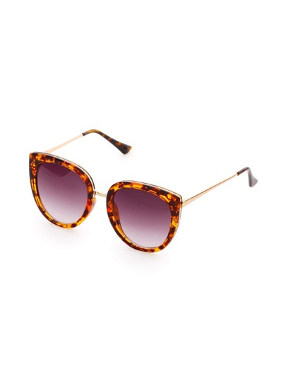 Gold Arm Cat Eye Sunglasses