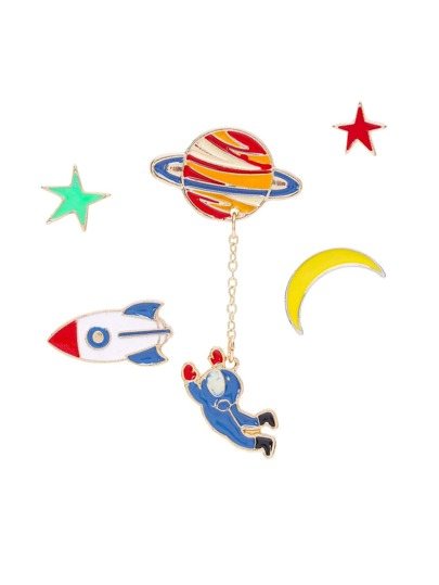 Moon Design Cute Pin Set