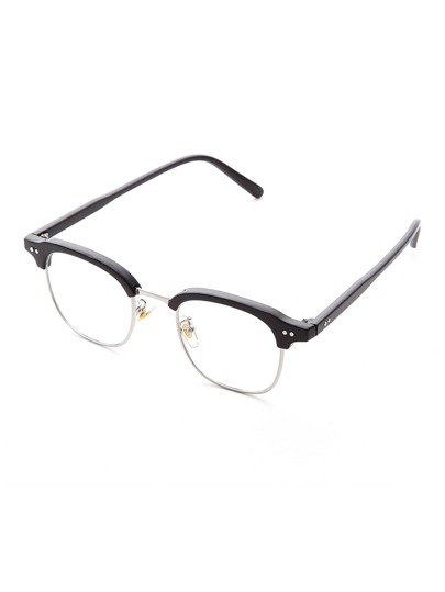Half Frame Clear Lens Glasses