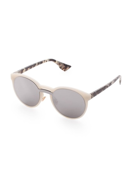 Marble Pattern Grey Lens Sunglasses