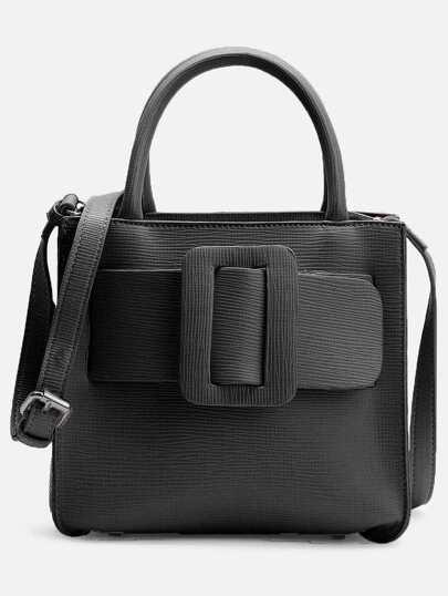 Bolso de hombro con diseño de hebilla con correa ajustable